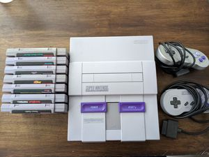 Super Nintendo with games and controllers for Sale in Austin, TX