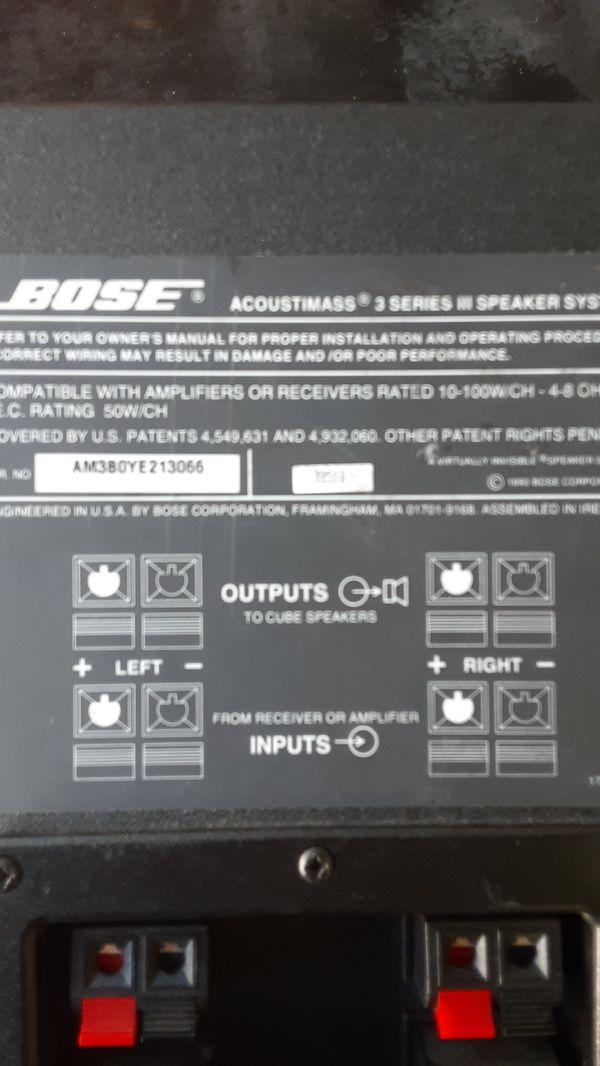 "Bose speakers 14""x7""x 7.5"""