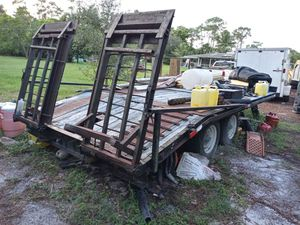 Heavy duty trailer for any heavy duty machine for Sale in West Palm Beach, FL