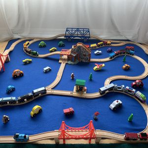 Thomas Train Set. All Wood . 150 pieces for Sale in Burien, WA