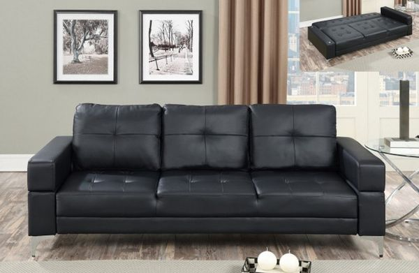 ADJUSTABLE SOFA BED BLACK