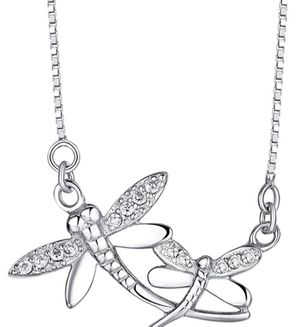 Beautiful Twin Dragonfly necklace (real silver) for Sale in Yuma, AZ
