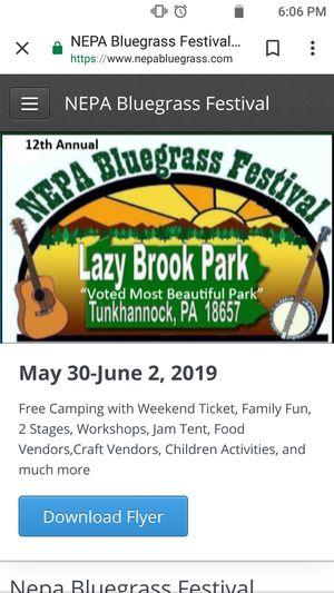 NEPA Bluegrass Festival for Sale in Scranton, PA