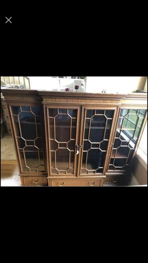 Large Antique China Cabinet for Sale in Tacoma, WA