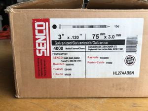 Senco Nail Gun Nails - HL27AABSN for Sale in Gresham, OR
