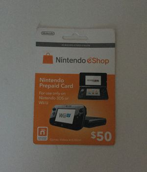Nintendo prepaid card for Sale in Alexandria, VA