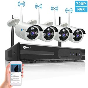 Anni 4CH Outdoor Wireless Surveillance Security Camera System 4Pcs 720P 1MP Camera for Sale in Los Angeles, CA