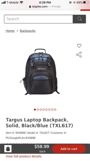 Targus Laptop Backpack for Sale in Goodyear, AZ