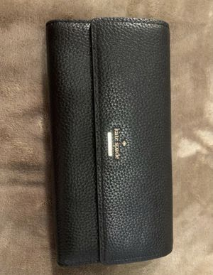 Kate Spade Leather Wallet Black for Sale in Garden Grove, CA