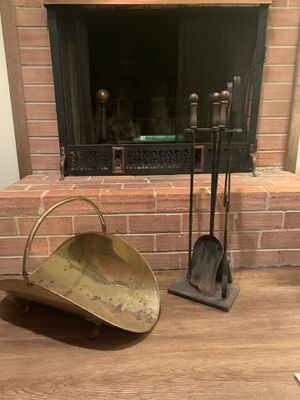 Fireplace Tools and Wood Holder for Sale in Fairfax, VA