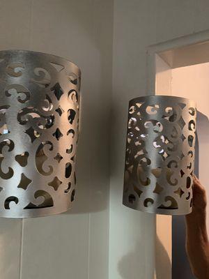 Wall decor- wall lanterns for candles- decoración de pared para velas for Sale in Loma Linda, CA