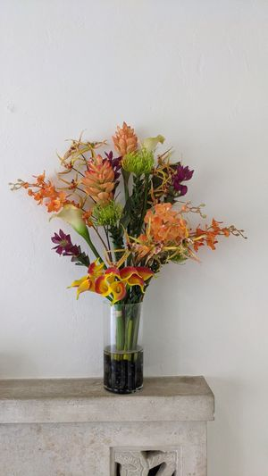 Faux Floral Arrangement Imitation Flowers Vase Included for Sale in Miami, FL