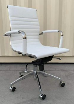 Brand new in box Genuine Leather computer office chair height adjustable recline aluminum frame $120 each for Sale in Whittier,  CA