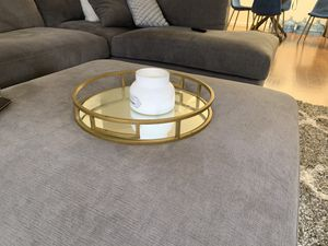 Gold and mirrored decorative tray for Sale in Los Angeles, CA