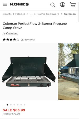 Coleman PerfectFlow 2-Burner Propane Camp Stove for Sale in Mesa, AZ