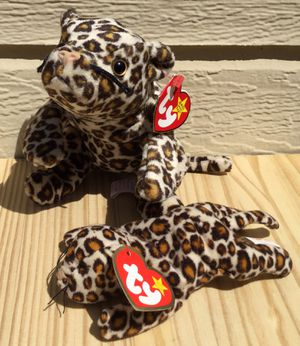 Vintage 90's Beanie Baby Freckles the Leopard & Teenie Baby ~ Check out my Page 😊 for Sale in Fresno, CA