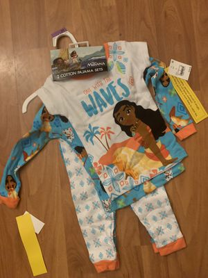 Moana 2T . 4 pc pijama . for Sale in Fontana, CA