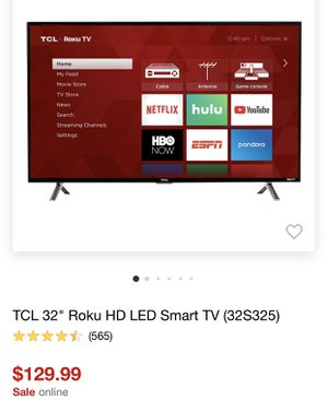 Tcl smart tv 32 inch for Sale in Lanham, MD