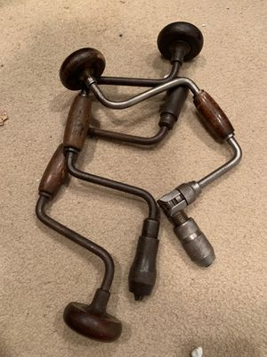 3 vintage hand drills for Sale in Seattle, WA