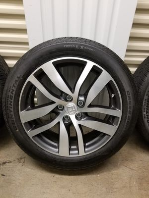 Honda pilot Rims with new Continental Tires for Sale in Atlanta, GA