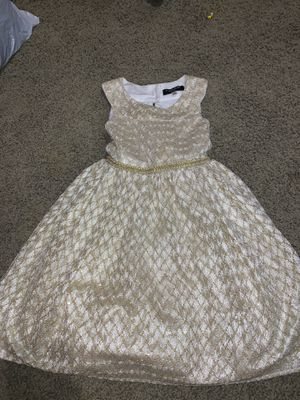 Girls Gold Dress Size Small for Sale in Woodland, CA