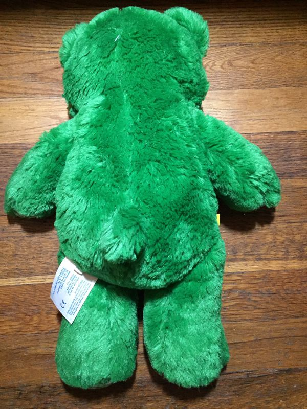 Build a bear plush teddy bear shamrock clover Patrick green