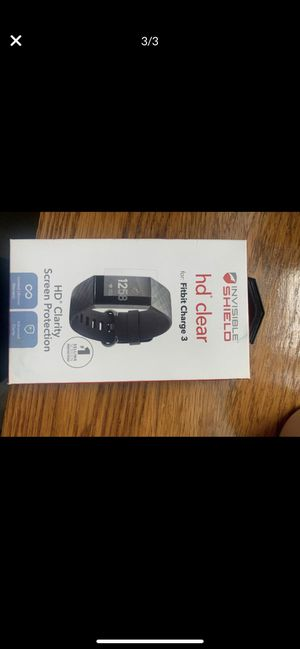 Fitbit charge 3 with charger extra bands and screen protector for Sale in Olympia, WA