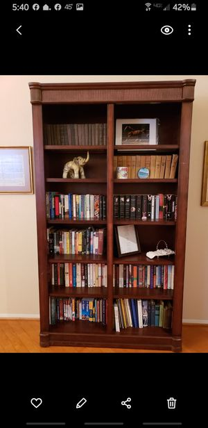 Cherry bookcase beautiful for Sale in San Diego, CA