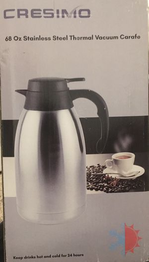 68 Oz Stainless Steel Thermal Coffee Carafe/Double Walled Vacuum Flask for Sale in Chandler, AZ