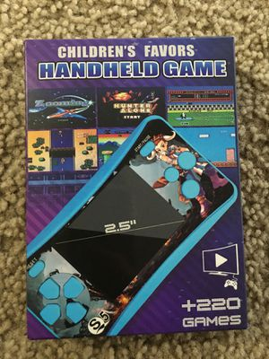 QoolPart Arcade Style Handheld Game, QS5 Retro Video Game Supports TV Output with 220 Classic Games, 2.5 inch Color Screen Portable Game Controller for Sale in Redmond, WA