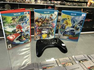 Nintendo Wii U Pro controller bundle for Sale in Santa Clarita, CA