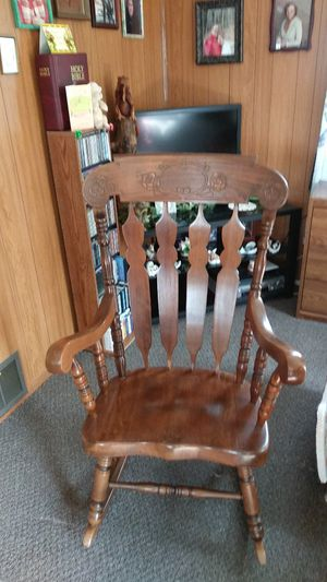 Wooden rocking chair for Sale in Parma, OH