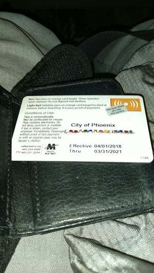 Metro bus and light rail pass for Sale in Glendale, AZ
