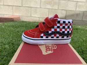 Vans sk8 mid reissue black white red new in box size 7 toddlers $40 pick up in Westminster ca for Sale in Huntington Beach, CA