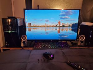 eMachines desktop, TCL Smart TV, Hyperx Keyboard, Corsair gaming wireless mouse, Logitech speakers for Sale in Houston, TX
