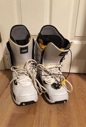 Burton Hail 9.5 Men's Snowboard Boots,white for Sale in San Jose, CA