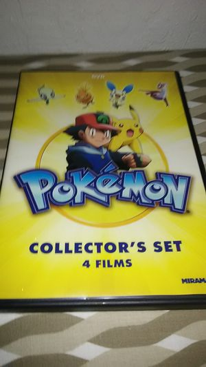 Pokemon collecter set with 4 films ! for Sale in Lodi, CA