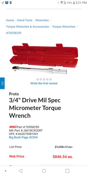 Proto Torque Wrench for Sale in Midland, TX