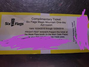 SIX FLAGS MAGIC MOUNTAIN for Sale in Universal City, CA