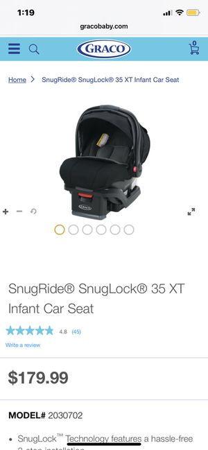 Graco snuglock 35 XT car seat for Sale in Denver, CO