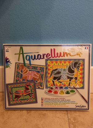 Aquarellum horse painting kit, brand new for Sale in Central Houghton, WA