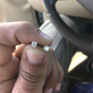 Diamond earrings with screw on backs for Sale in Redlands, CA