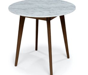 Article Mara Strained Walnut Marble Round Cafe Table for Sale in Seattle,  WA