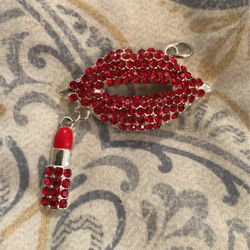 Red Lips & Lipstick Charm for Sale in Kent,  WA