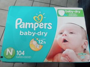 Pampers baby dry Newborn 104ct only $18 p/u/Fontana for Sale in Rancho Cucamonga, CA