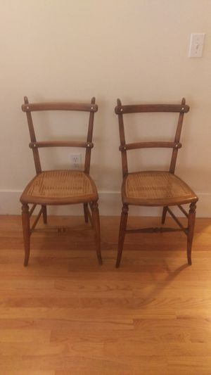 Pair of antique caned seat chairs for Sale in Seattle, WA