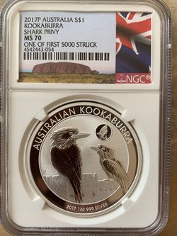 2017 1oz Australia NGC MS70 Kookaburra Silver Coin for Sale in Seattle,  WA