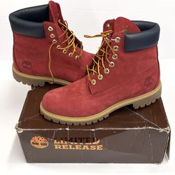 Timberland Boots Red Suede Patriotic Timberland Boots, With Box, Size 10.5 for Sale in Raleigh,  NC