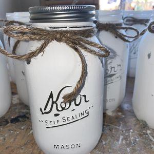 Distressed Mason Jars Farmhouse Decor for Sale in Bakersfield, CA