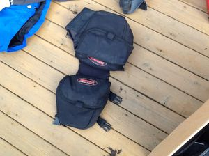 Snowmobile bar bag hot pots and helmets also fuel caddy for Sale in Tacoma, WA